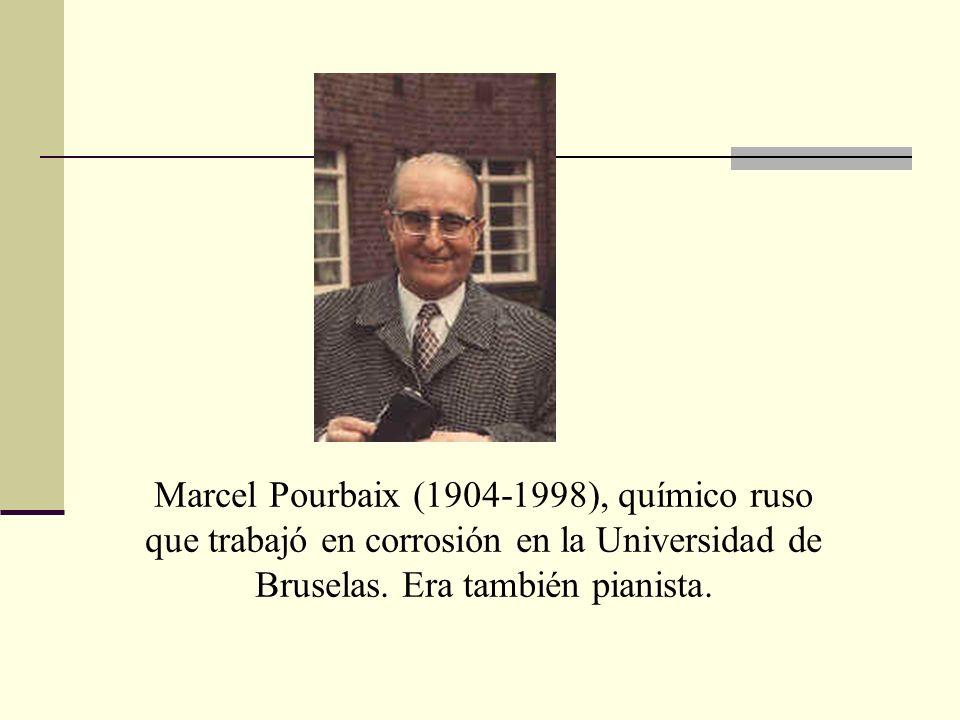 Marcel Pourbaix (1904-1998), químico ruso que trabajó en corrosión en la Universidad de Bruselas. Era también pianista.