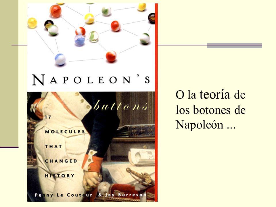 O la teoría de los botones de Napoleón...