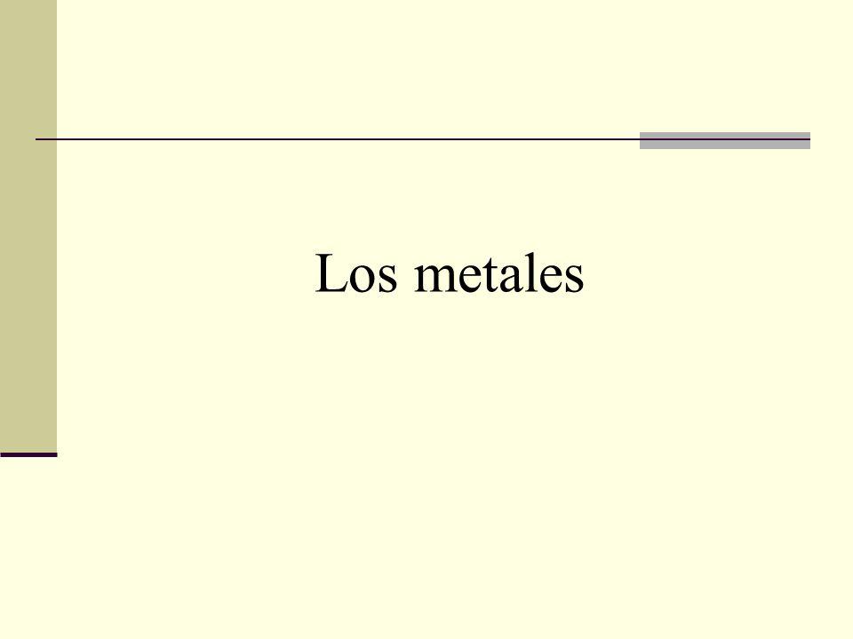 Los metales se utilizan desde hace miles de años.