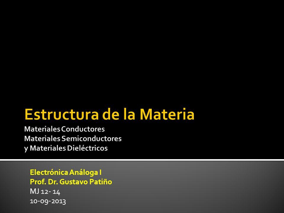 Electrónica Análoga I Prof. Dr. Gustavo Patiño MJ 12- 14 10-09-2013