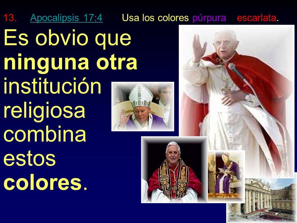 11.Apocalipsis 13:15Manda a matar a quien no le adore.Apocalipsis 13:15 Fue el sistema papal quien guió a Hitler para destruir a más de 6 millones de judíos.