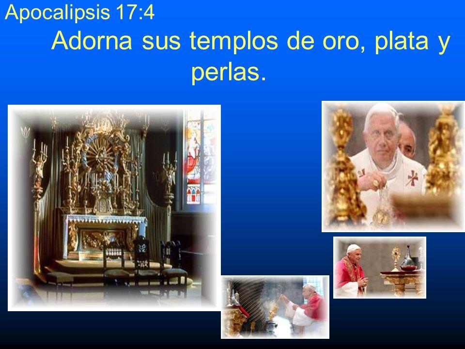 13.Apocalipsis 17:4Usa los colores púrpura y escarlata.Apocalipsis 17:4 Es obvio que ninguna otra institución religiosa combina estos colores.