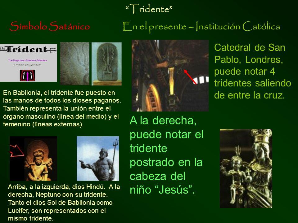 Símbolo SatánicoEn el presente – Institución Católica Corsier, baston de serpiente diosa Atena, con el bastón corsier en forma de serpiente en su mano, símbolo de poder.