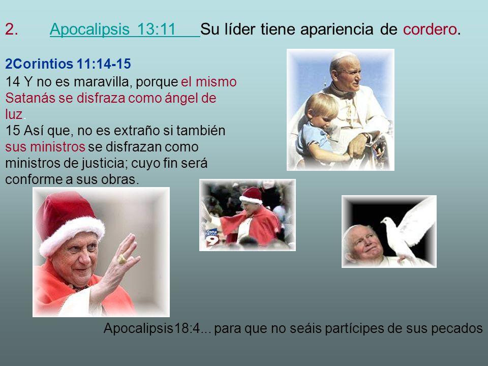 2Corintios 11:14-15 14 Y no es maravilla, porque el mismo Satanás se disfraza como ángel de luz.
