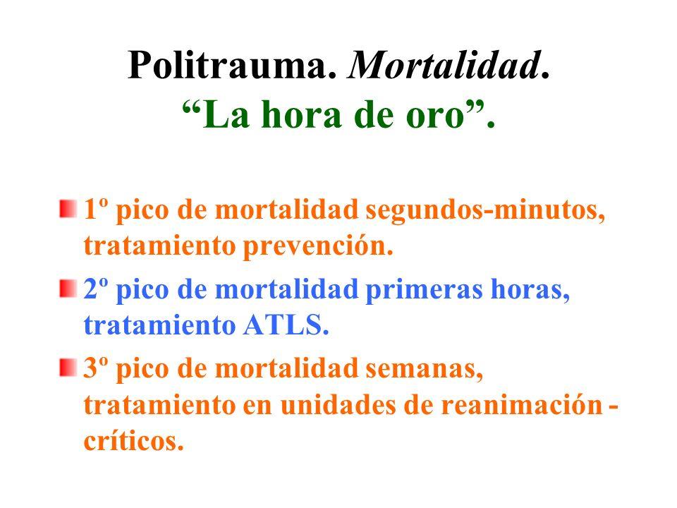 Politrauma.Causas de mortalidad.