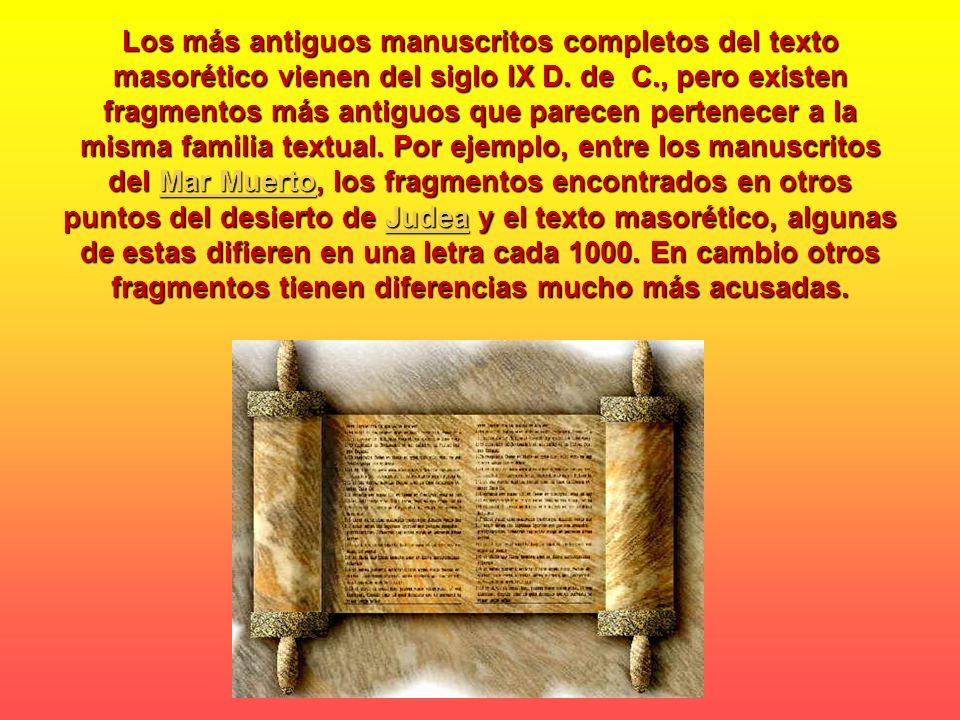 La pregunta que hoy nos surge es porque razón hoy existen tantos manuscritos antiguos de las sagradas escrituras, la razón es la siguiente, es necesario recordar que los manuscritos se guardaban en las sinagogas y eran sacados para su lectura en la diferentes ceremonias del pueblo Judío, cuando los manuscritos de las Escrituras Hebreas que se usaban en las sinagogas judías se deterioraban, eran reemplazados por copias verificadas, y los viejos manuscritos se depositaban en la geniza (un almacén o depósito de la sinagoga).