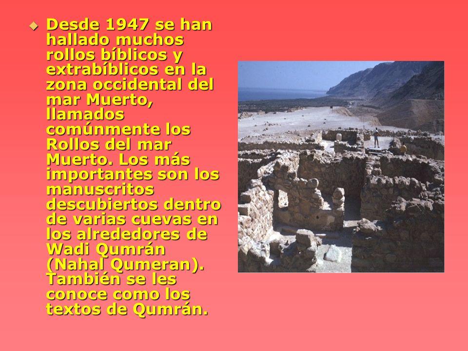 Parece ser que en un tiempo pertenecieron a una comunidad religiosa judía asentada en los alrededores de Khirbet Qumrán (Horvat Qumeran).