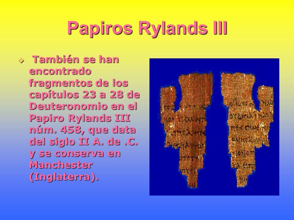 Versión de los Setenta Otro manuscrito importante de la Versión de los Setenta contiene fragmentos de Jonás, Miqueas, Habacuc, Sofonías y Zacarías.