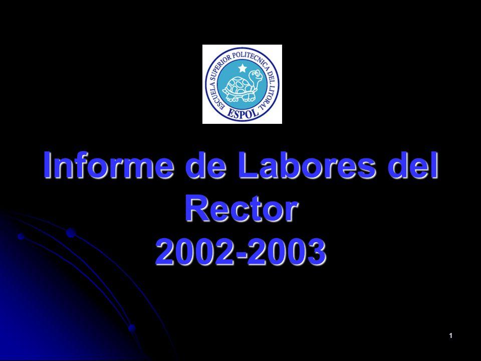 1 Informe de Labores del Rector 2002-2003