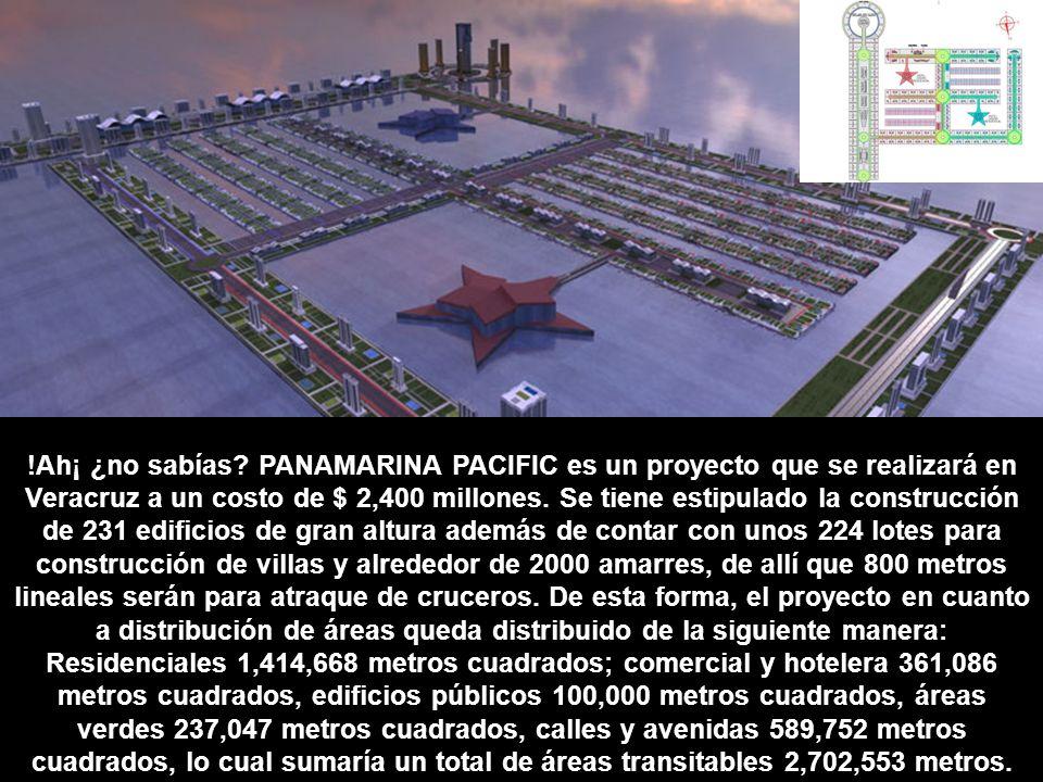 !Ah¡ ¿no sabías? PANAMARINA PACIFIC es un proyecto que se realizará en Veracruz a un costo de $ 2,400 millones. Se tiene estipulado la construcción de