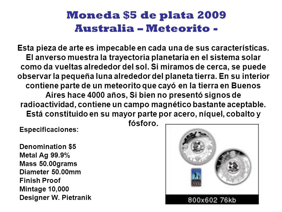Para celebrar los 80 años de la televisión en 2006, esta maravillosa moneda nos muestra una imagen holográfica de la primera imagen transmitida. La de