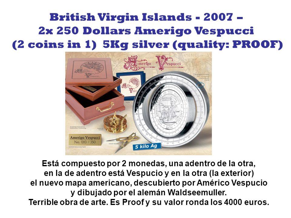Face value: 1.000 $ (1x400 $ + 12 x 50 $) Material: Gold 999/1.000 Weight: 1.000 g (1kg) Diameter: 120 mm Condition: unc./proof Mintage 50 pcs. Moneda