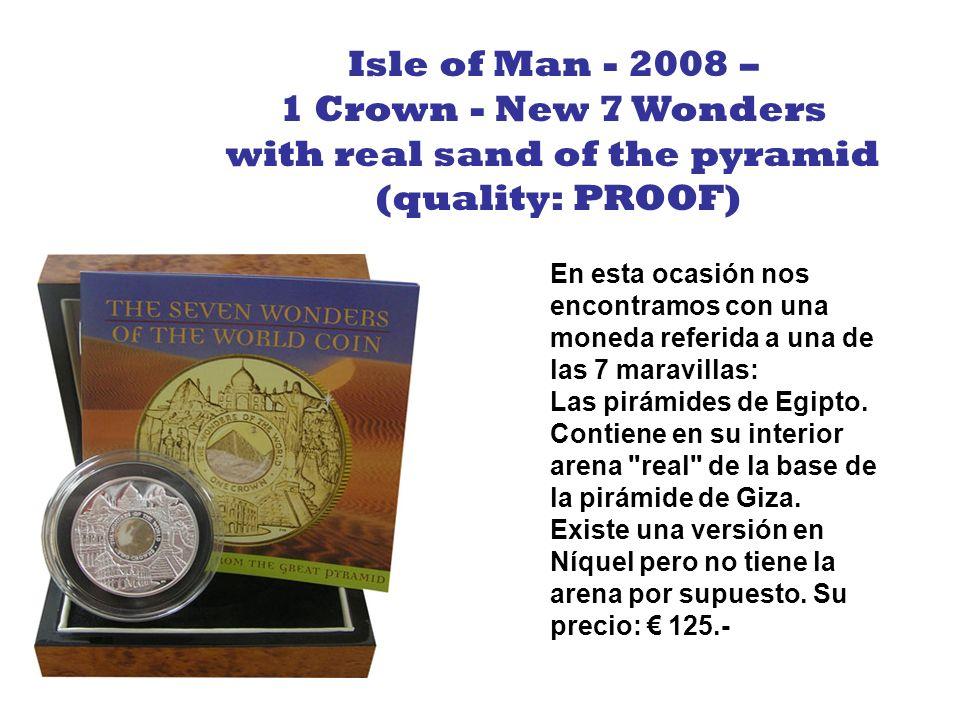 Siguiendo con el estilo de las monedas 3D, esta figura de Qin Shi Huang (primer emperador Chino) se levanta de la moneda (como la de la Isla de Pascua).