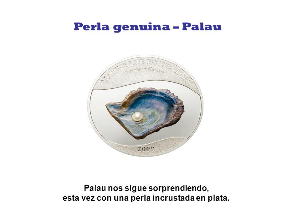 Además de tener un hermoso diseño, si frotas esta moneda puedes sentir el aroma del mar.