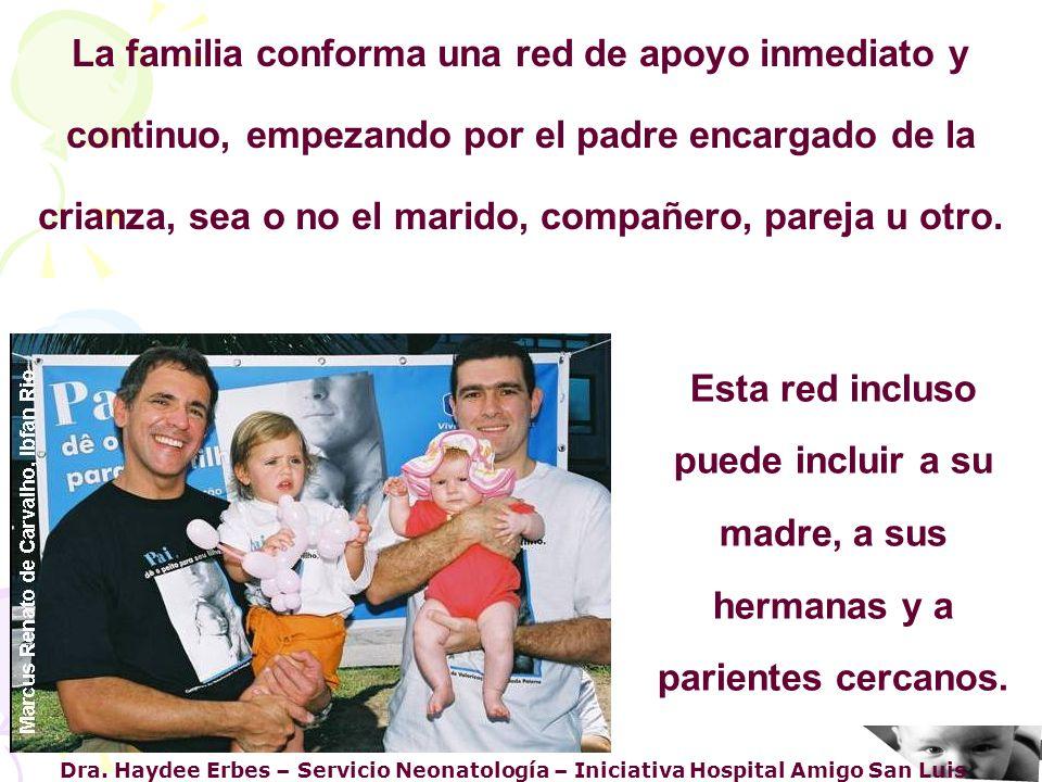 Dra. Haydee Erbes – Servicio Neonatología – Iniciativa Hospital Amigo San Luis La familia conforma una red de apoyo inmediato y continuo, empezando po