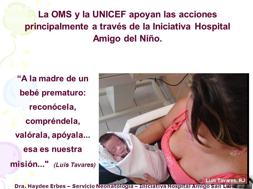 Dra. Haydee Erbes – Servicio Neonatología – Iniciativa Hospital Amigo San Luis Los servicios y profesionales de salud pueden causar impacto directo o