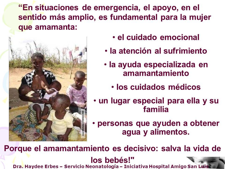 Dra. Haydee Erbes – Servicio Neonatología – Iniciativa Hospital Amigo San Luis el cuidado emocional la atención al sufrimiento la ayuda especializada