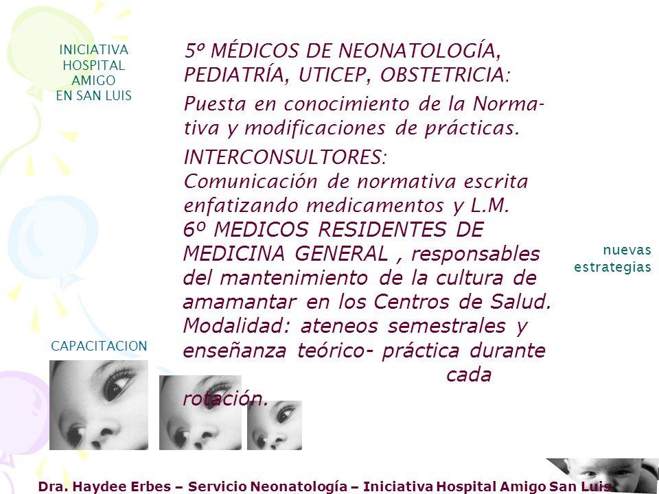 Dra. Haydee Erbes – Servicio Neonatología – Iniciativa Hospital Amigo San Luis INICIATIVA HOSPITAL AMIGO EN SAN LUIS nuevas estrategias CAPACITACION 5