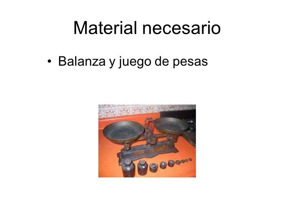 Material necesario Cucharilla o espátula