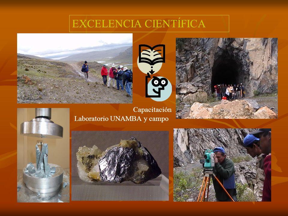 EXCELENCIA CIENTÍFICA Capacitación Lima, nov 05 Laboratorio UNAMBA y campo