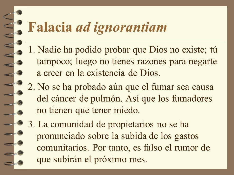 Falacia ad ignorantiam 1.