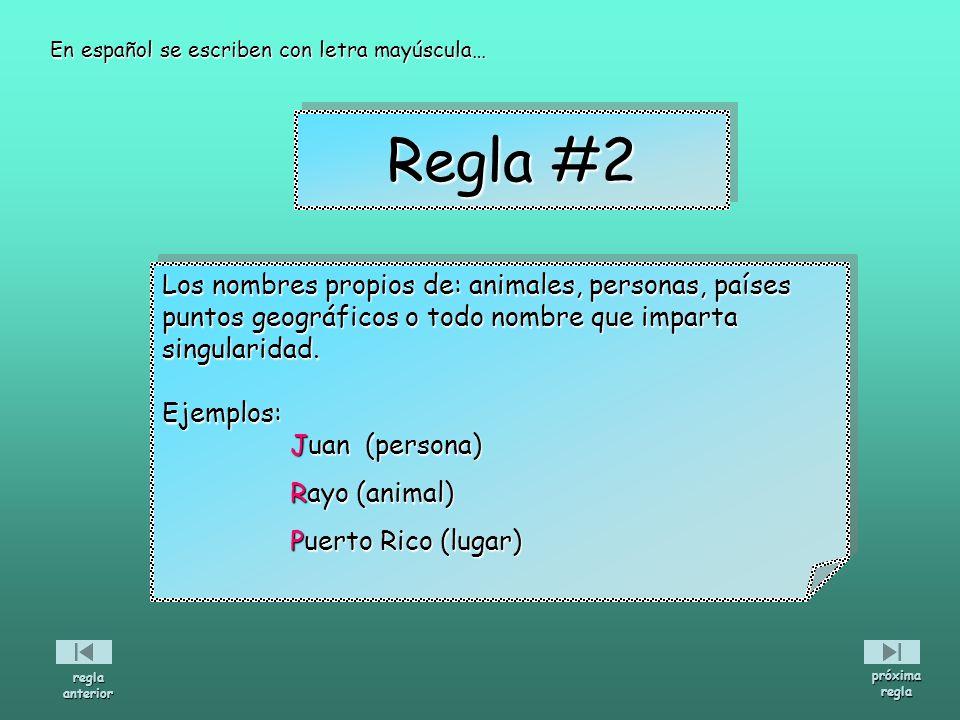 Los nombres propios de: animales, personas, países puntos geográficos o todo nombre que imparta singularidad.Ejemplos: Juan (persona) Juan (persona) R