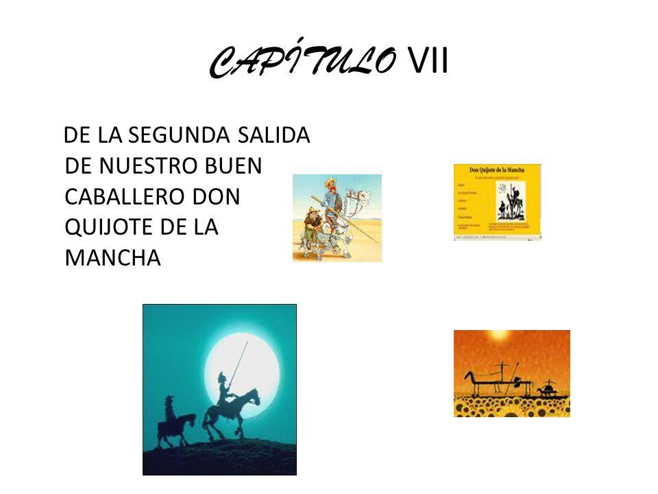 CAPÍTULO VII DE LA SEGUNDA SALIDA DE NUESTRO BUEN CABALLERO DON QUIJOTE DE LA MANCHA
