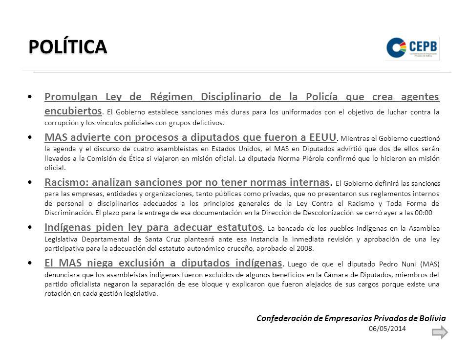 POLÍTICA Promulgan Ley de Régimen Disciplinario de la Policía que crea agentes encubiertos.