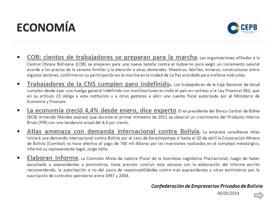 ECONOMÍA COB: cientos de trabajadores se preparan para la marcha. Las organizaciones afiliadas a la Central Obrera Boliviana (COB) se preparan para un