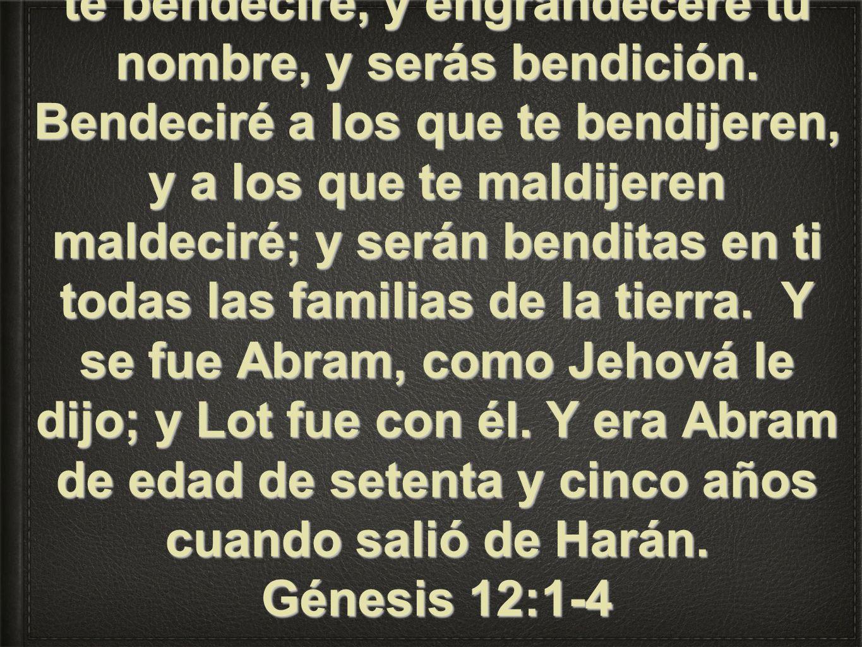 Pero Jehová había dicho a Abram: Vete de tu tierra y de tu parentela, y de la casa de tu padre, a la tierra que te mostraré. Y haré de ti una nación g