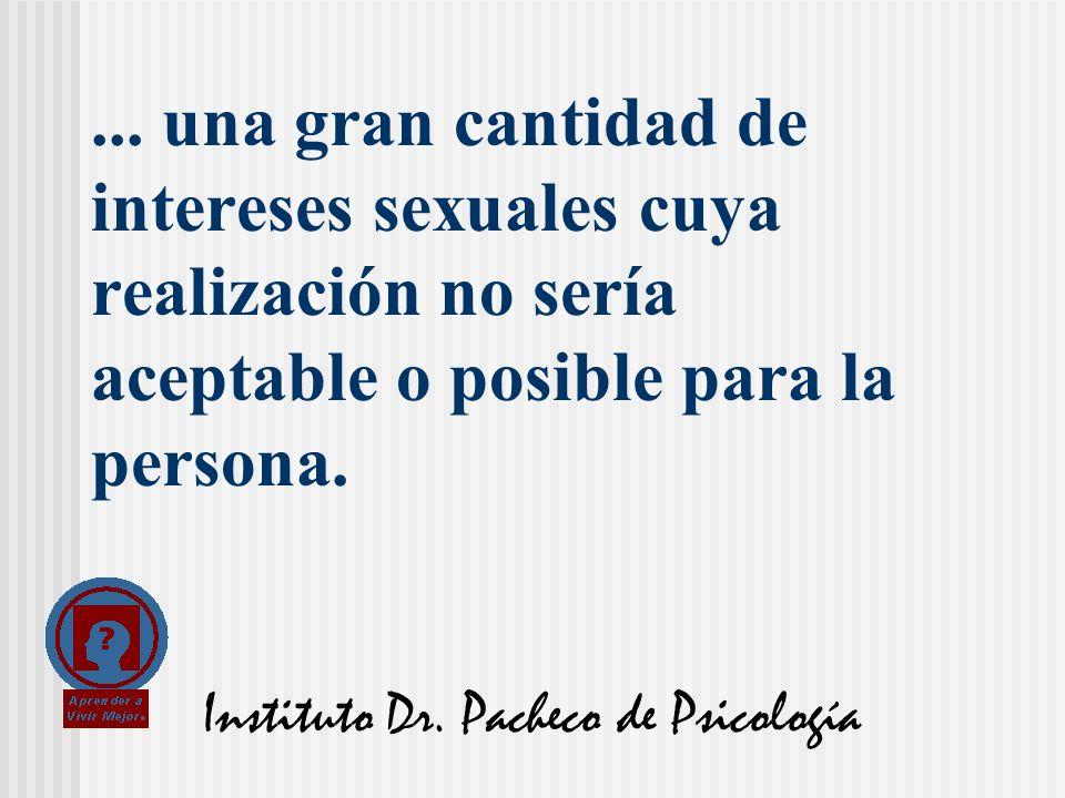 Instituto Dr. Pacheco de Psicología... una gran cantidad de intereses sexuales cuya realización no sería aceptable o posible para la persona.