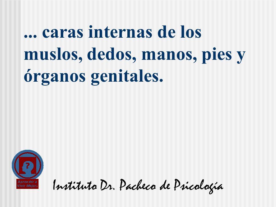 Instituto Dr. Pacheco de Psicología... caras internas de los muslos, dedos, manos, pies y órganos genitales.