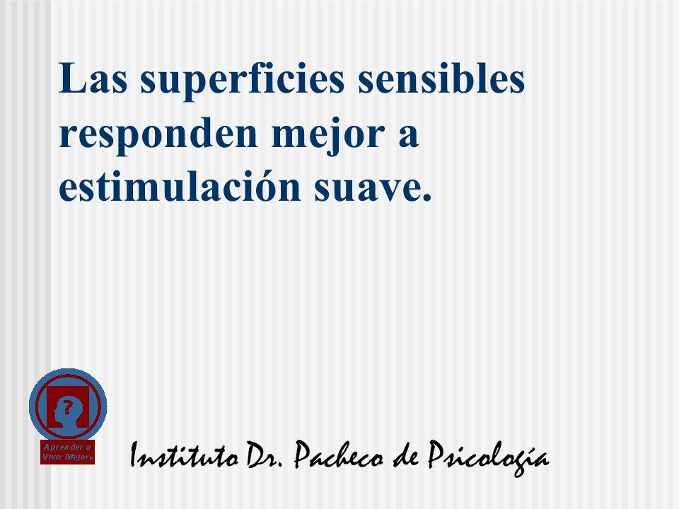 Instituto Dr. Pacheco de Psicología Las superficies sensibles responden mejor a estimulación suave.