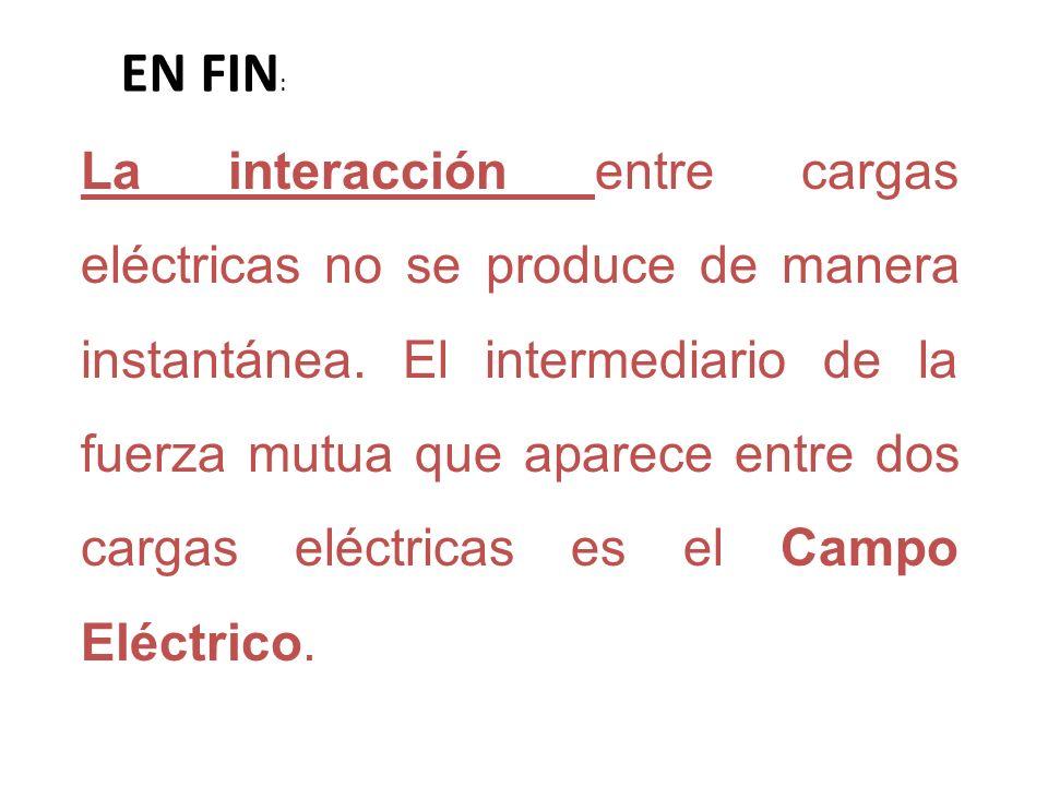 La interacción entre cargas eléctricas no se produce de manera instantánea. El intermediario de la fuerza mutua que aparece entre dos cargas eléctrica