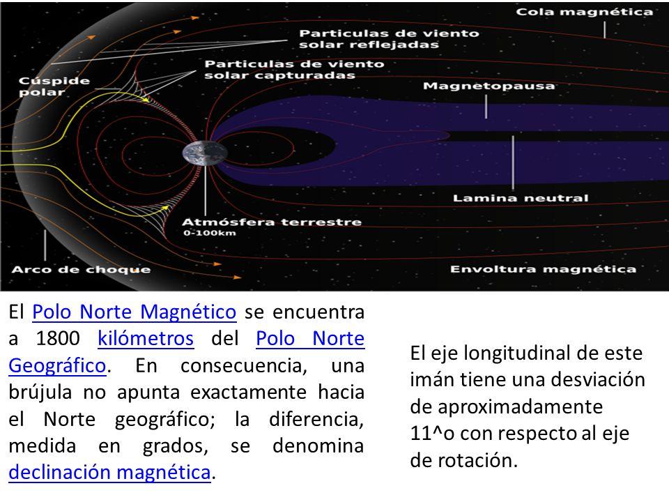 El Polo Norte Magnético se encuentra a 1800 kilómetros del Polo Norte Geográfico. En consecuencia, una brújula no apunta exactamente hacia el Norte ge