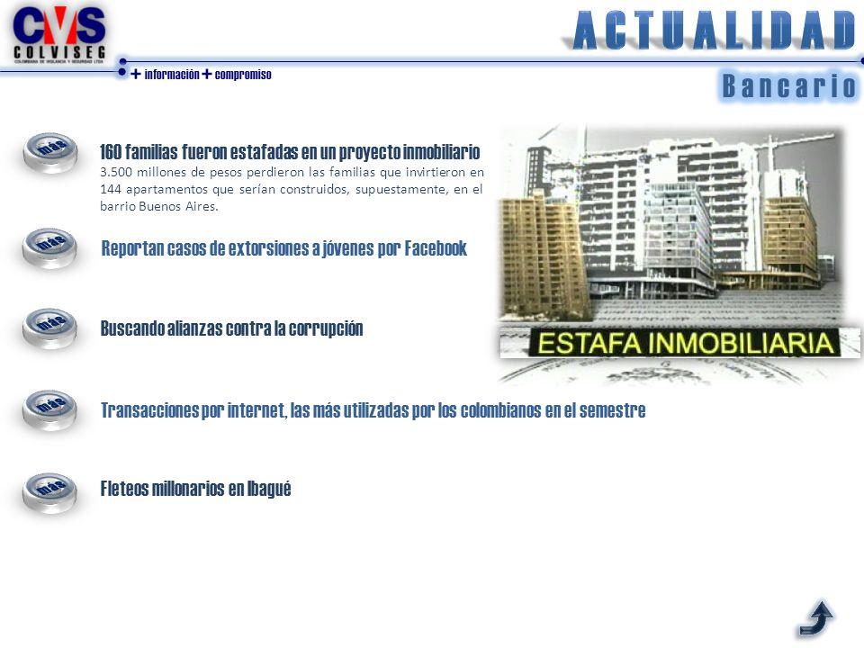 Reportan casos de extorsiones a jóvenes por Facebook Buscando alianzas contra la corrupción Transacciones por internet, las más utilizadas por los col