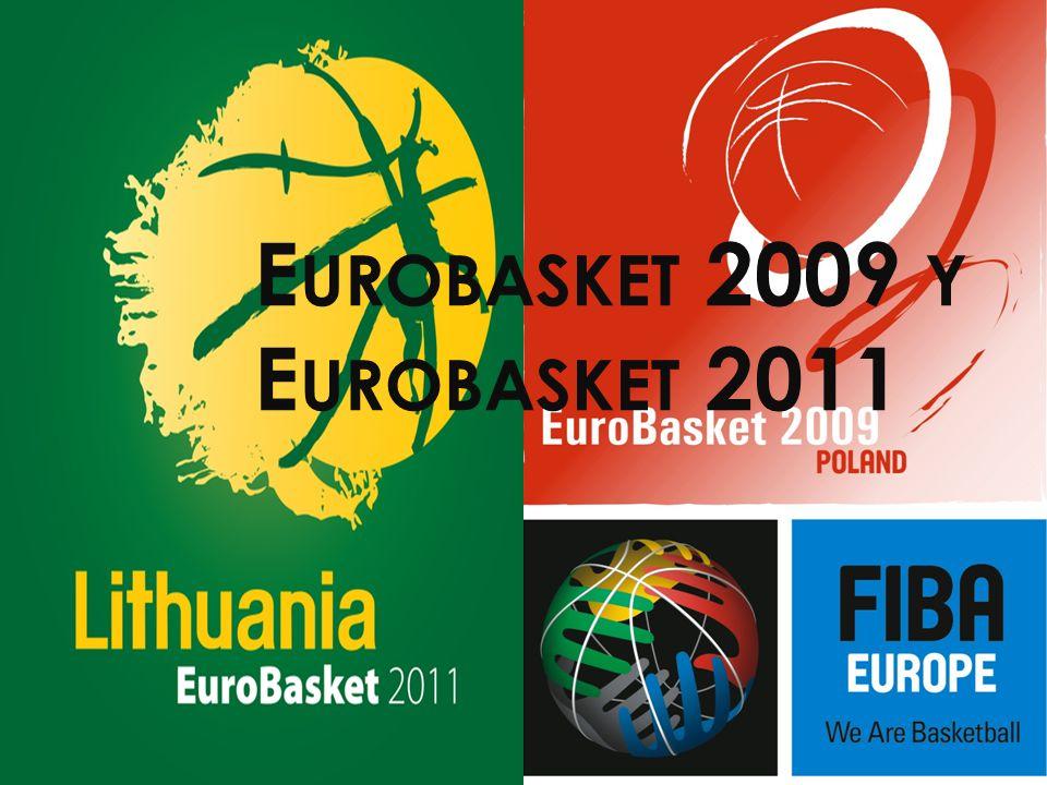 E UROBASKET P OLONIA 2009 En este año España consiguió hacerse con el Oro contra Serbia(85 – 63), habiéndose clasificado al principio en los Juegos Olímpicos de Pekín 2008 PRIMERA FASE España se encontraba en el Grupo C, junto a Eslovenia, Serbia y Reino Unido.