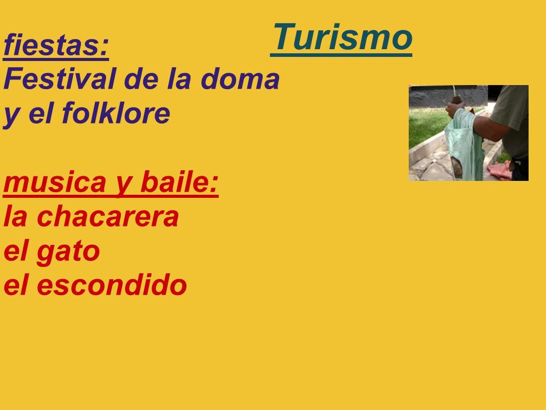 Turismo fiestas: Festival de la doma y el folklore musica y baile: la chacarera el gato el escondido