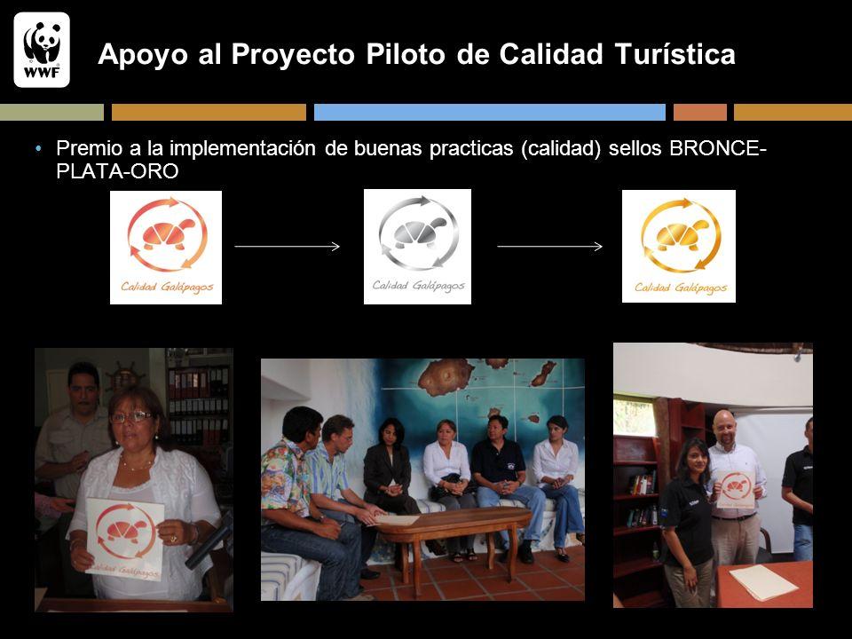 Apoyo al Proyecto Piloto de Calidad Turística Premio a la implementación de buenas practicas (calidad) sellos BRONCE- PLATA-ORO