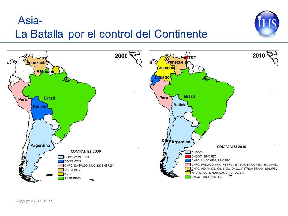 Copyright © 2012 IHS Inc. Asia- La Batalla por el control del Continente