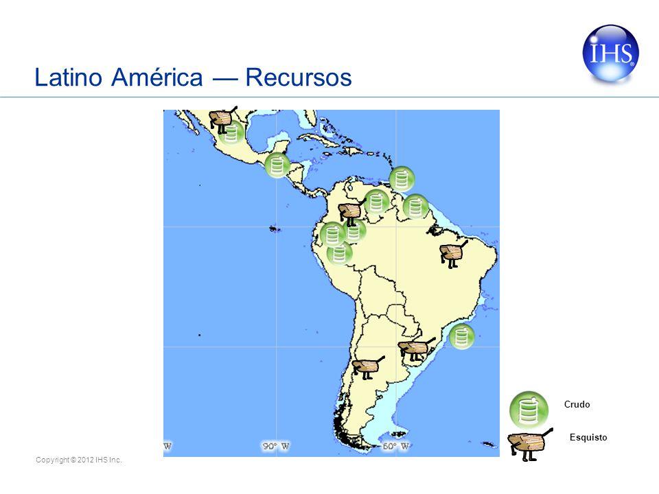 Copyright © 2012 IHS Inc. Latino América Recursos Crudo Esquisto