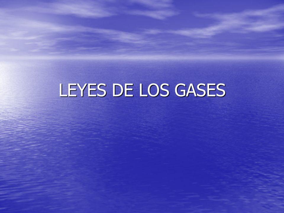 Gas ideal Idealización del comportamiento de los gases reales aunque en algunas condiciones de presión y temperatura es aceptable.