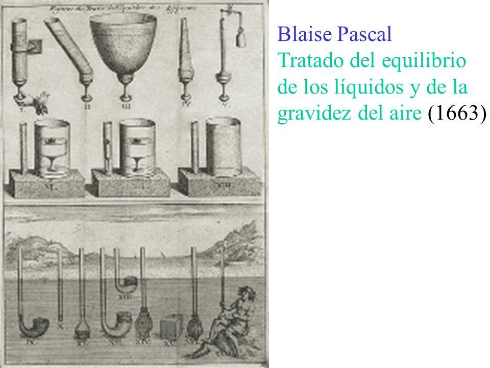Blaise Pascal Tratado del equilibrio de los líquidos y de la gravidez del aire (1663)