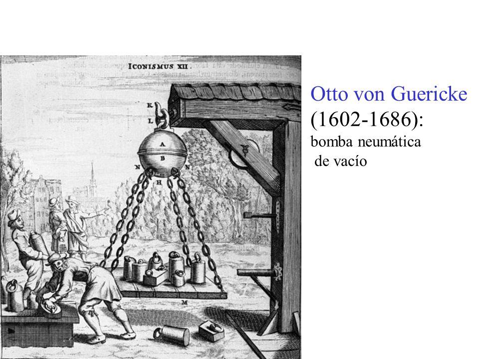 Otto von Guericke (1602-1686): bomba neumática de vacío