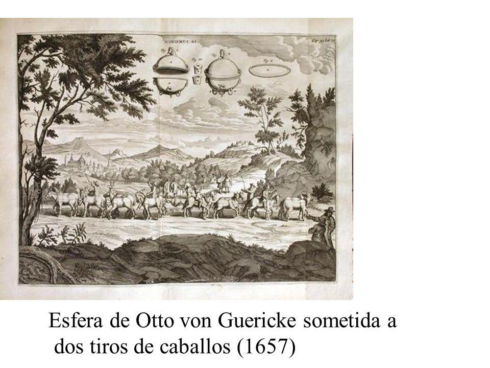 Esfera de Otto von Guericke sometida a dos tiros de caballos (1657)