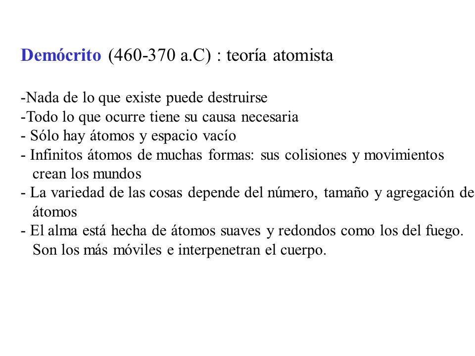 Aristóteles (384-322 a.C) : el vacío no puede existir porque no es capaz de transmitir movimientos.
