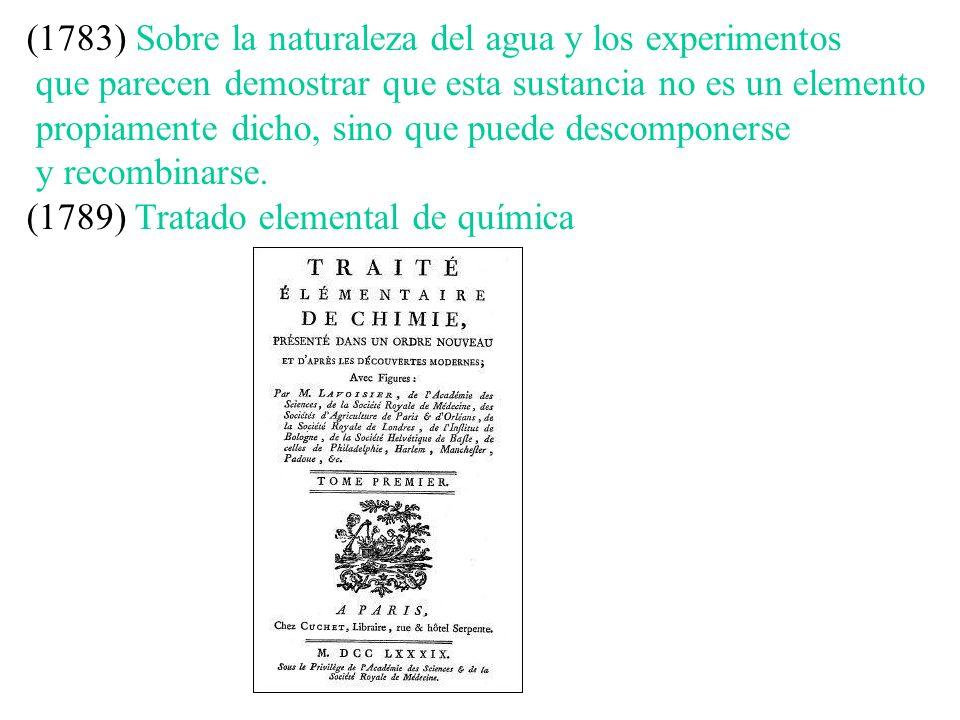 (1783) Sobre la naturaleza del agua y los experimentos que parecen demostrar que esta sustancia no es un elemento propiamente dicho, sino que puede de