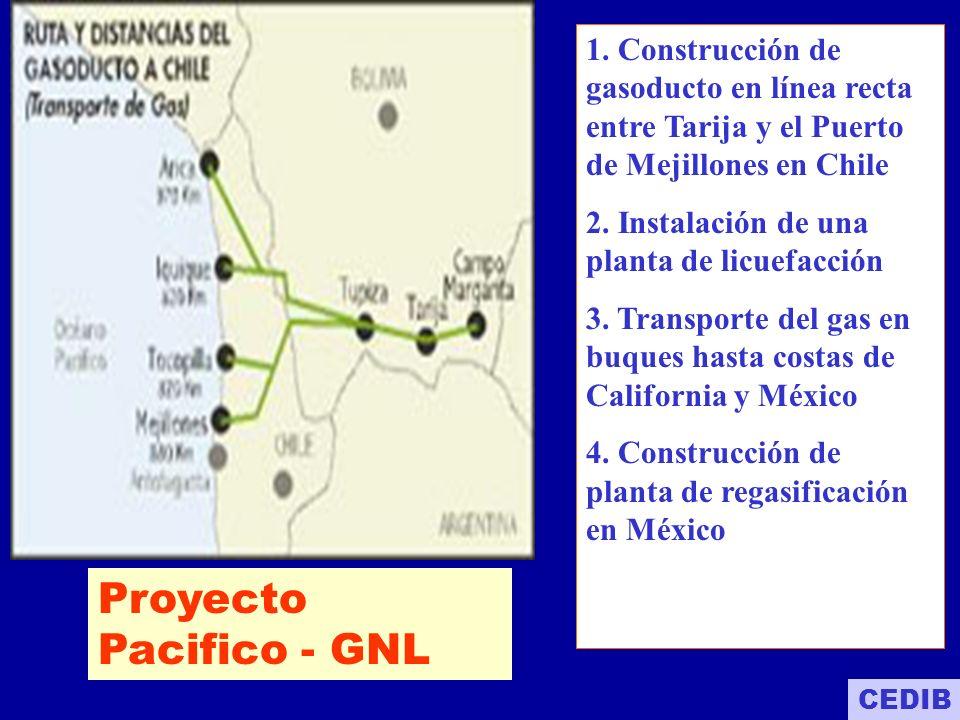 PROYECTO PACIFIC LNG Junio del 2001 se conformó el consorcio Pacific LNG.