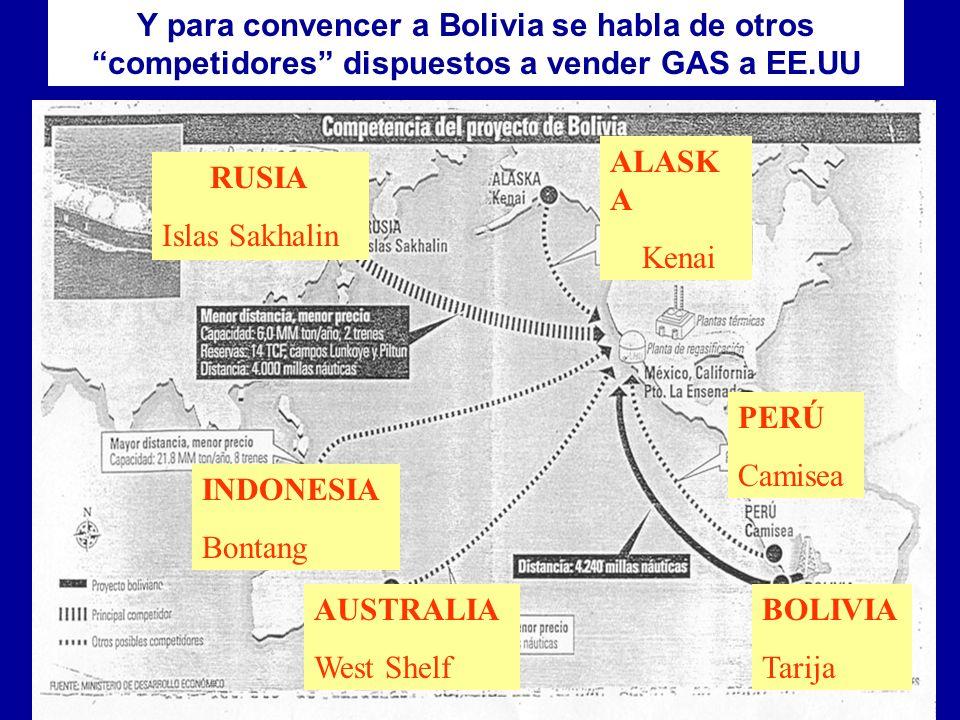 ! PERO, EN LAS ACTUALES CONDICIONES, NO CONVIENE VENDER GAS NI POR CHILE, NI POR PERU....! CEDIB