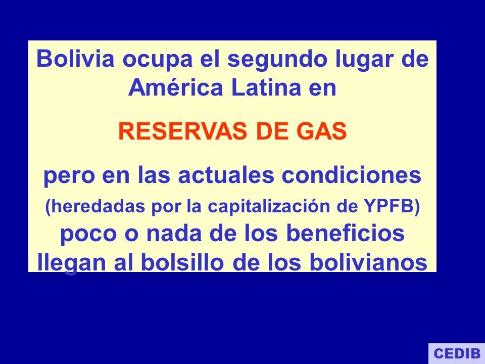 DISTRIBUCIÓN DE RESERVAS PROBADAS Y PROBABLES POR OPERADOR En los hechos las 52 TCF de reservas de Gas certificadas como probadas y probables se encuentran en manos extranjeras.